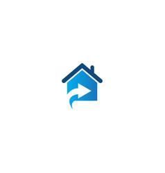 house arrow realty company logo vector image