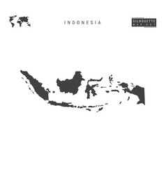 Indonesia map isolated on white background vector