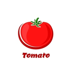 Isolated red cartoon tomato vegetable vector image