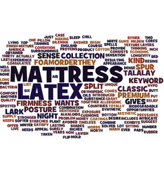Latex mattress text background word cloud concept vector