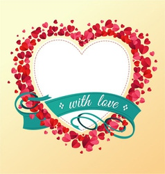 Love ornament vector