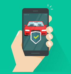 mobile phone car protection vector image