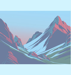 Mountains in afternoon vector