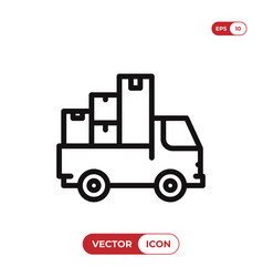moving truck icon vector image