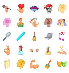 mummer icons set cartoon style vector image vector image