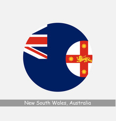 New south wales australia round circle flag vector