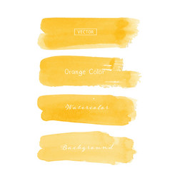 Orange brush stroke watercolor vector