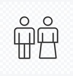 outline couple man and woman icon isolated vector image