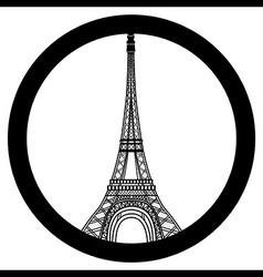 Peace for Paris symbol Eiffel Tower Pray for the vector