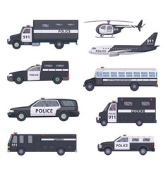 police cars vehicle protection services vector image