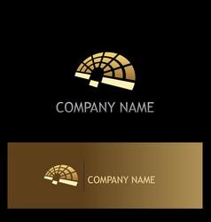 radar technology gold logo vector image
