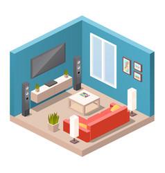 realistic isometric livingroom vector image