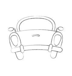 rear of car icon vector image