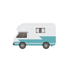 Retro camper trailer vector