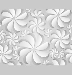 Seamless texture with paper flowers vector
