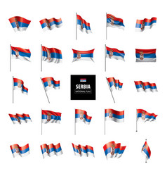 serbia flag on a white vector image
