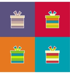 Set of multi-colored bright gift vector image