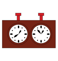 simple of a brown chess clock on white background vector image