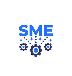 Sme small and medium enterprise icon on white vector