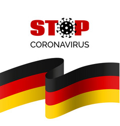 stop coronavirus in germany banner vector image