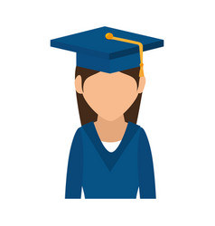 Student graduated avatar icon vector