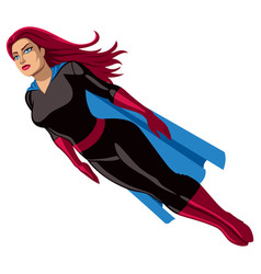 Super heroine flying vector