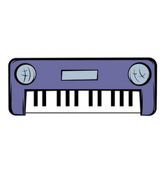 Synthesizer icon cartoon vector