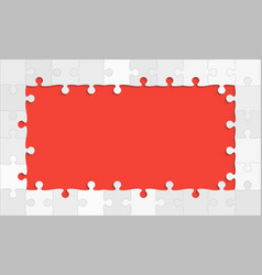 The red background puzzle jigsaw puzzle banner vector