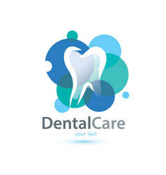tooth stylized symbol logo or emblem template vector image