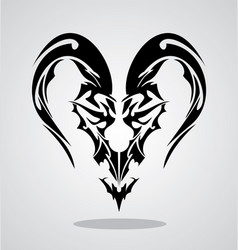 Tribal Capricorn Sign vector image