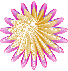 Twisted 3d flower shape vector