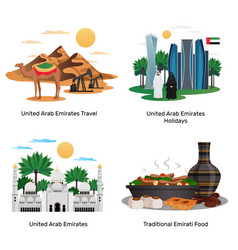 uae travel concept compositions vector image