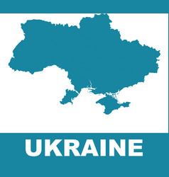 ukraine map on white background flat vector image