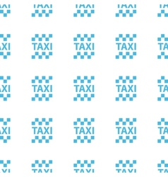 Unique Taxi seamless pattern vector image