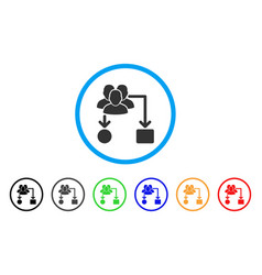 User routing scheme rounded icon vector