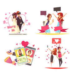 virtual love design concept vector image