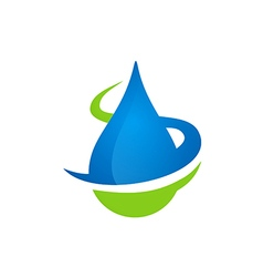 Water drop bio ecology logo vector