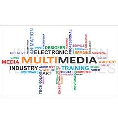 word cloud multimedia vector image