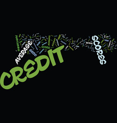 Z average credit scores text background word vector