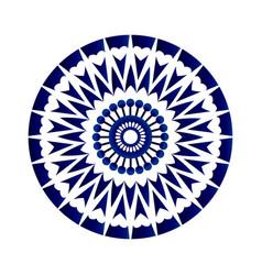 abstract flower mandala vector image vector image