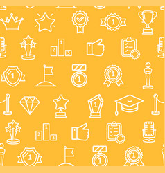 award signs seamless pattern background vector image vector image