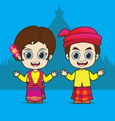 Cartoon Asean Myanmar vector image vector image