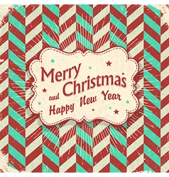 christmas lettering card design aged with rays vector image