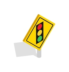 Light traffic sign icon isometric 3d style vector image vector image