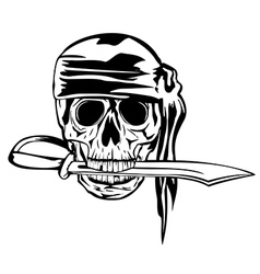 pirate and dagger1 vector image vector image