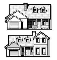 single family house set vector image vector image