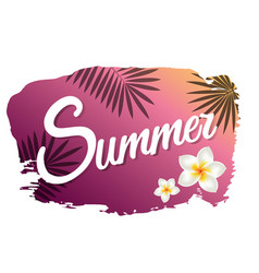 summer with blot vector image
