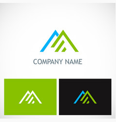 triangle line roof company logo vector image vector image