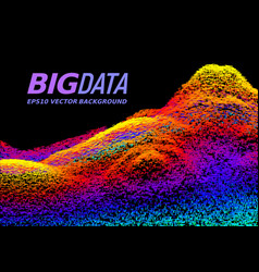 big data concept abstract background vector image