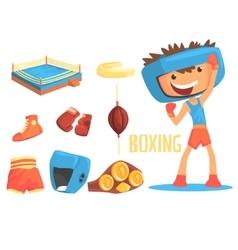 Boy boxer kids future dream professional boxing vector